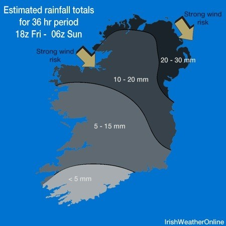 Saturday's weather map - IWO