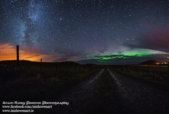 The Northern Lights captured by Rory Adam Porter.