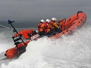 The RLI do trojan work around Donegal's coastline.