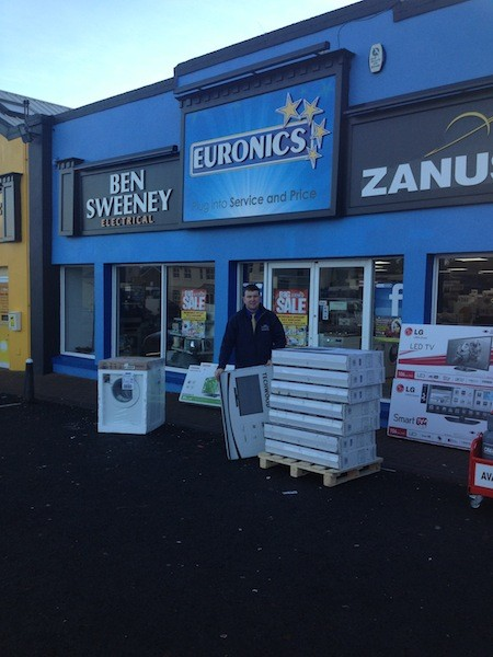 Raymond Sweeney of Ben Sweeney Electrical with just some of the bargains in store today.