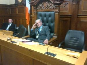 Mayor Ian McGarvey is himself a senior citizen.