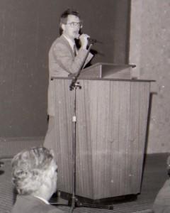 Aidan speaking at opening of dual carriageway