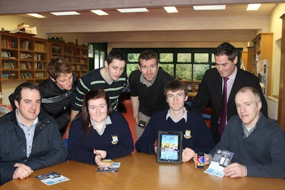 Dean Reynolds along with staff members  Liz Gordon, Steven Gibson,Seamus Kelly, Danny McFadden, students, Amy Brolly and Gavin Meehan. Also pictured is Neil Meehan from the Parents Association