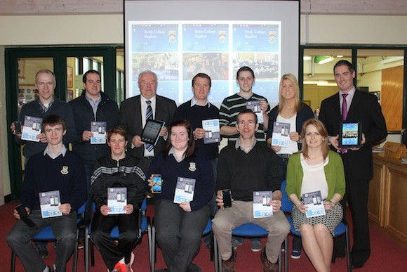 Deele College ICT team and students,  along with members of the Parents Association and our sponsor Reynolds of Raphoe