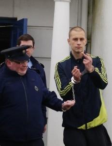 Kryszstof Grezegorski leaving court.