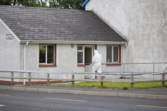 Garda forensic experts at the scene of the stabbing. Pic: North West News Pix