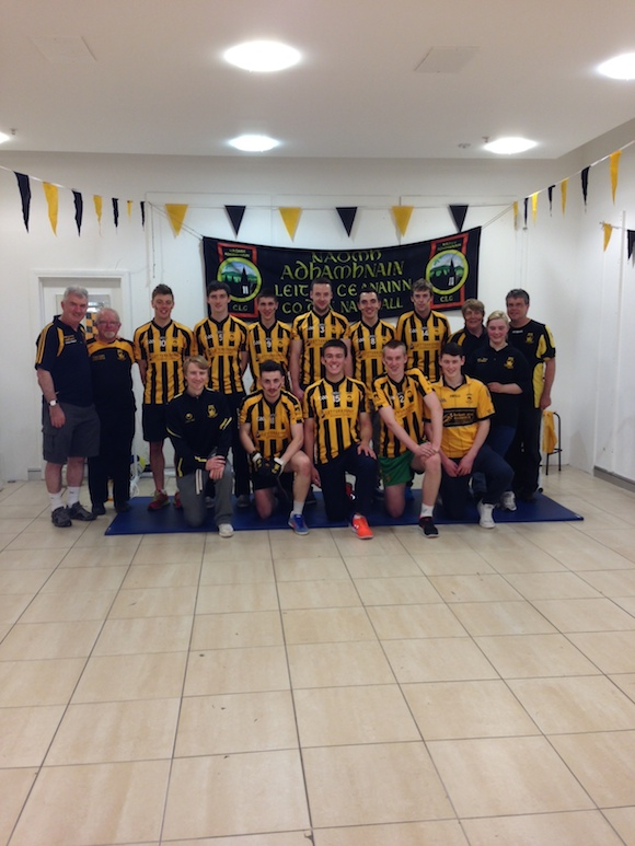 St Eunan's Club players and members who organised a fun penalty kick competition at Letterkenny Shopping Centre of Sunday