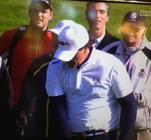 Michael Murphy was also pictured at Ryder Cup today.