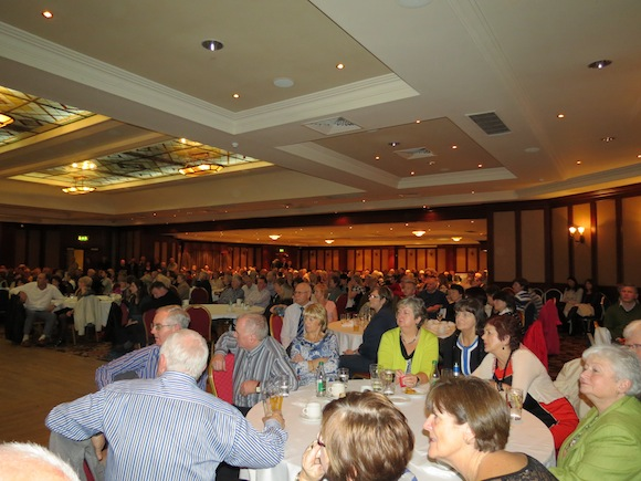 Some of the large crowd which turned out for Fr O'Donnell's farewell function.