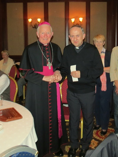 Fr O'Donnell with Bishop Philip Boyce