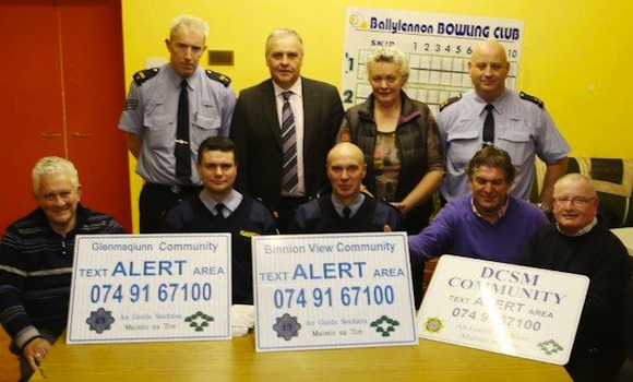 Last night's launch of the Community Alert scheme in Raphoe/St Johnston.