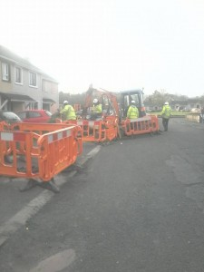 Irish Water contractors at another Donegal housing estate.