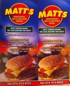 Matt's Takeaway in Killea has been robbed.