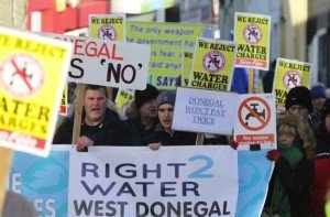 Donegal protestors at a previous march. Pic by Northwest Newspix.