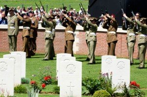 The graveyard at Fromelles in Australia where Joseph Curran from CRossroads is believed to rest.