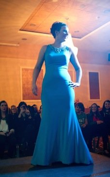 Ciara Walsh looks amazing in this blue number.