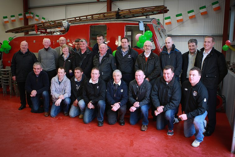 Volunteer Members of Mevagh Fire Service past and present pictured at the opening of the new heritage centre in Carrigart on Saturday.