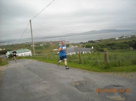 Denis is getting plenty of training in around Arranmore!