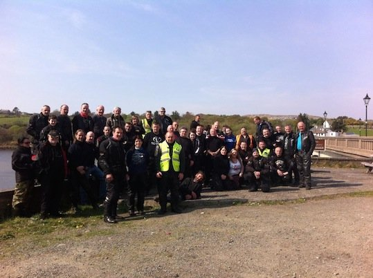 Bikers from across Donegal at last year's charity event.