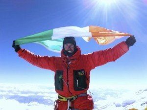 Black has an Irish flag, a Donegal flag and a Relay for Life flag in his pack to raise on the top of K2.