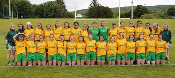 The Donegal U14 girls team who did themselves and their families proud today.