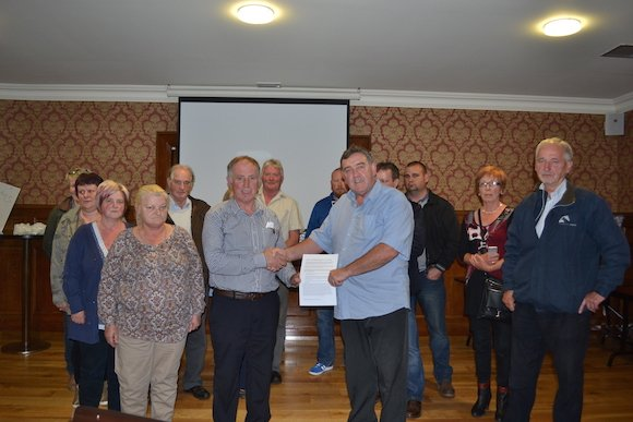 The historic meting and agreement on water meters in Inishowen is agreed.