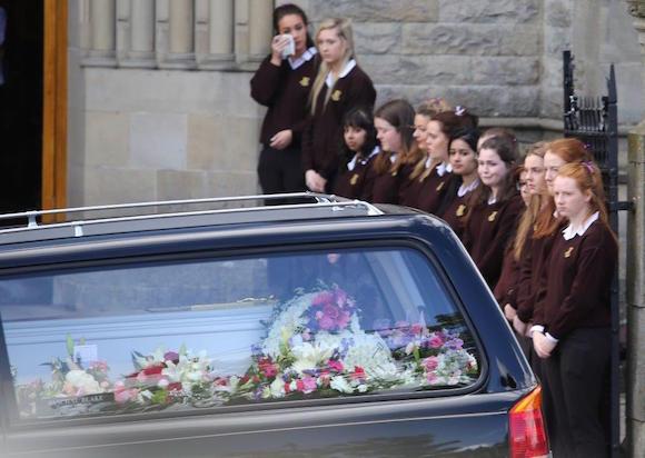 Tory Johnston funeral 1