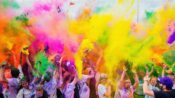 A colour run in full swing!