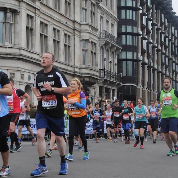 Denis doing last year's London Marathon.