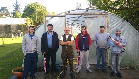 Head Gardener Robert Peaker with Donegal ETB Horticulture Students