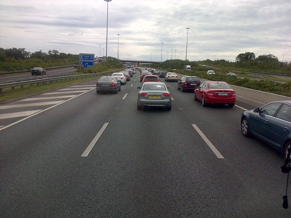 ALL ROADS LEAD TO DUBLIN...and the traffic is bumper to bumper