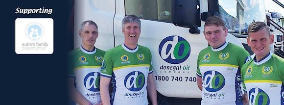 The lads who have come together to form Team Donegal Oil.