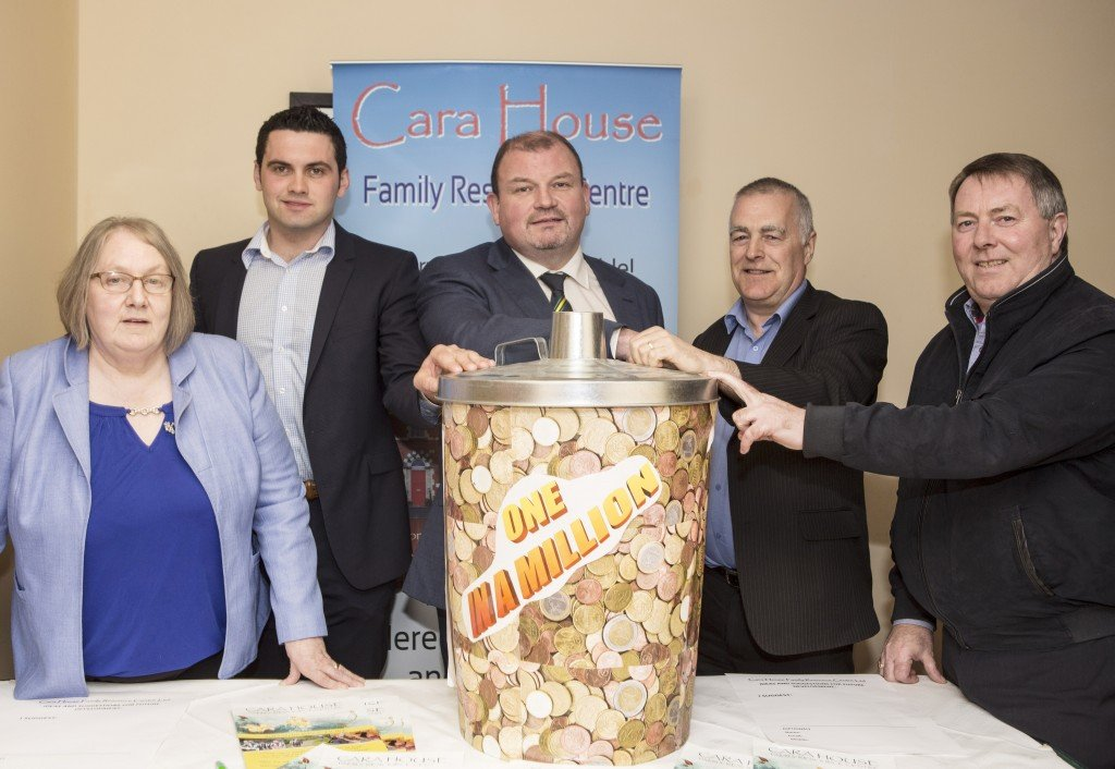 """Cara House launch their """"One in a Million"""" fundraising appeal.  Included were Cara House coordinator Susan McCauley, Colr. Jim Pat McDaid, Colr. Kieran Brogan, Colr. Jimmy Kavanagh and Colr. Gerry McMonagle.  (North West Newspix)"""