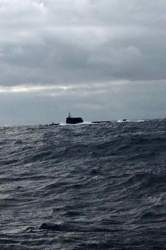 The submarine off Tory. Pic by Colm O'Brien.
