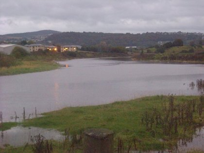 Another picture showing the huge tide last night at the Port Bridge.