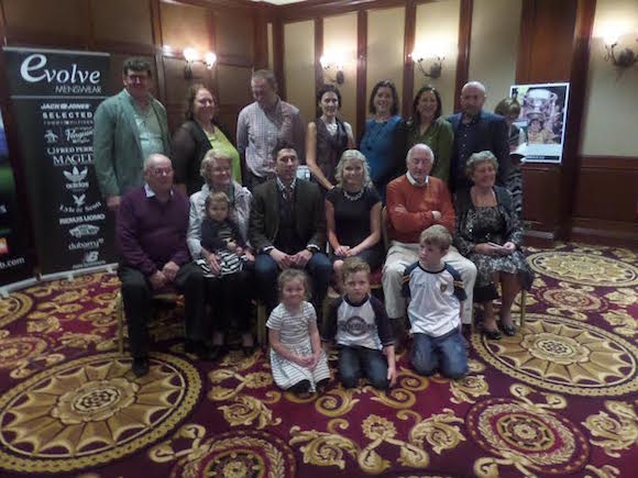 Rory pictured with his family at the book launch