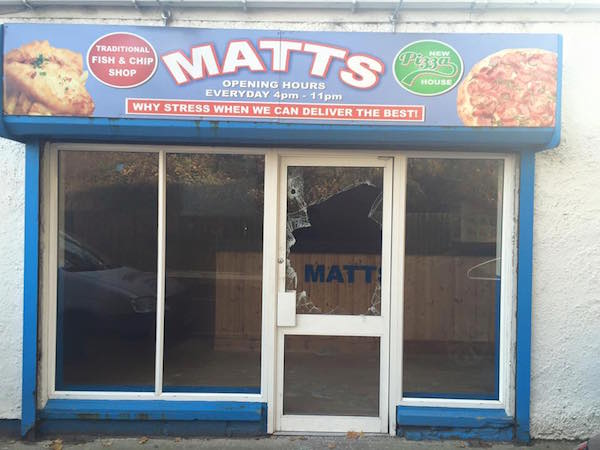 The attack on Matt's Takeaway couldn't have come at a worse time.