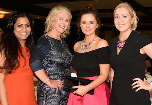 L-R Anjali Mohammed Saffron Hair & Beauty Owner, Loretto Mc Eniff Hotel Director and Carolynne Harrison, Sales & Marketing Manager