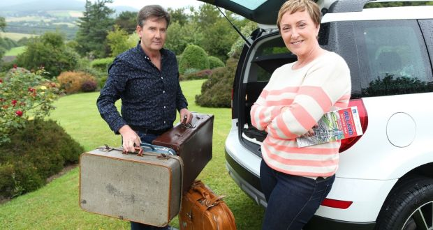 Daniel and Majella getting ready for their road trip.