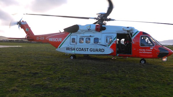 The rescue 118 helicopter took the man to Letterkenny General Hospital after his fall.