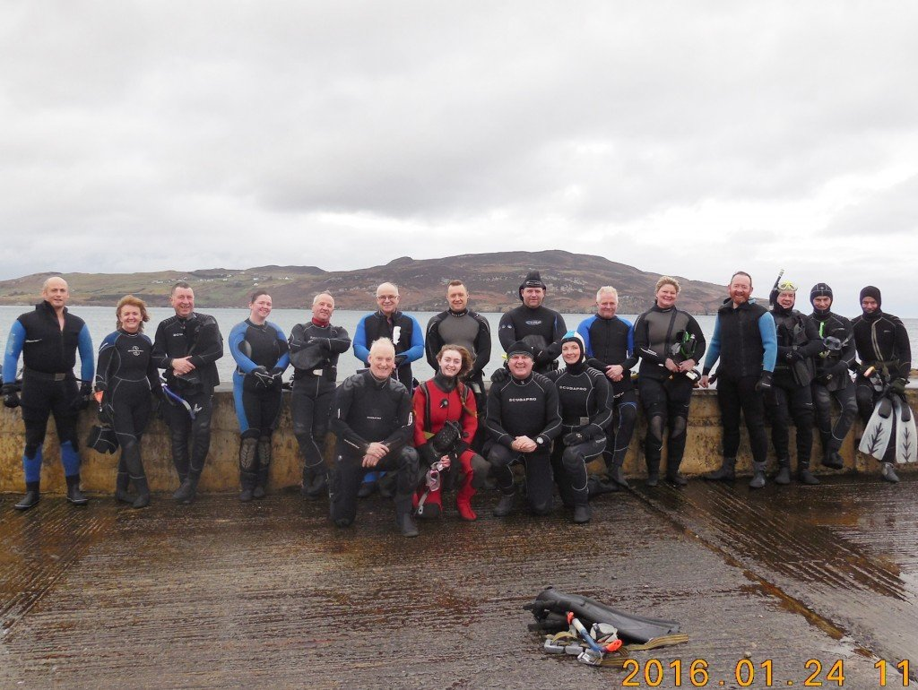 2016-01-24 Sheephaven SAC Sunday Morning Snorkelers, PortnaBlagh Harbour, Co. Donegal.