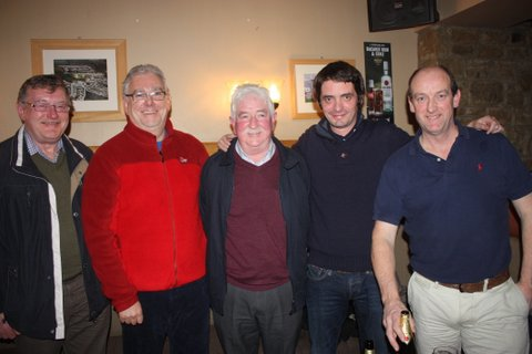 The new committee L to R Paidin  Kavanagh (President) Jimmy Gleeson (Vice Captain) Pat Herron  (tresurer) Kenny Chambers (Captain) and Eamonn McGlynn (sec)