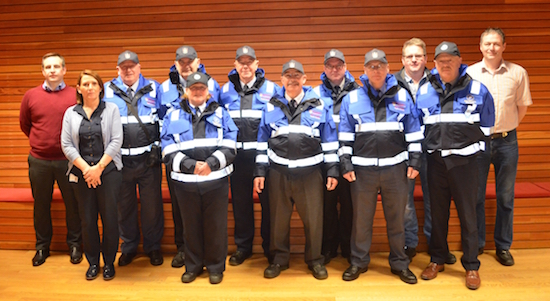 Donegal's traffic wardens with their new uniforms and also CCTV cameras.