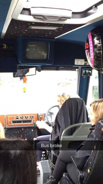 The bus has broken down. :(