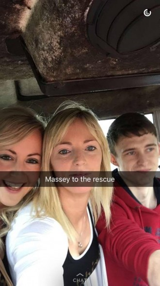 The Massey Ferguson saved the day for these girls!