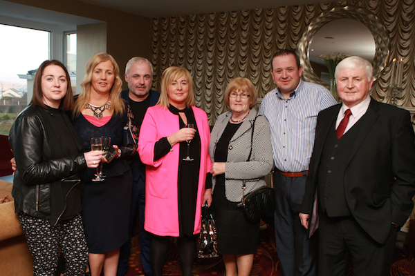Breda Wood, Bernie Kelly, Justin and Mary Mc Colgan Mc Colgan Cliffy Kelly Alice and Michael Mc Colgan at the opening of the Shandon Hotel