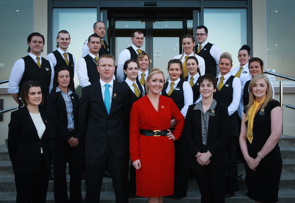 Manager of the Shandon Hotel and Spa Carolynne Harrison and her staff treated guests to an amazing first night at the hotel.
