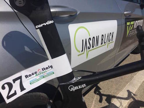 Jason Black is all ready to go.