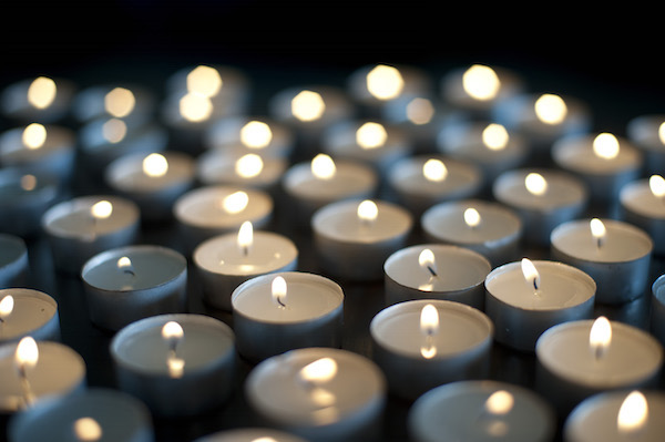 Background of burning candles