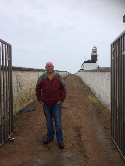 Councillor Mac Giolla Easbuig at Tory Island lighthouse recently.